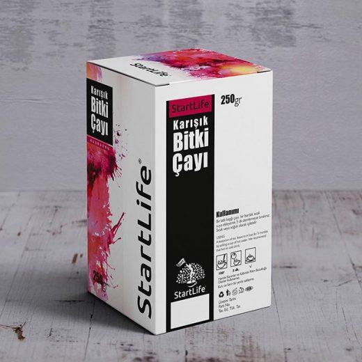 Zayıflama çayı kutu tasarım